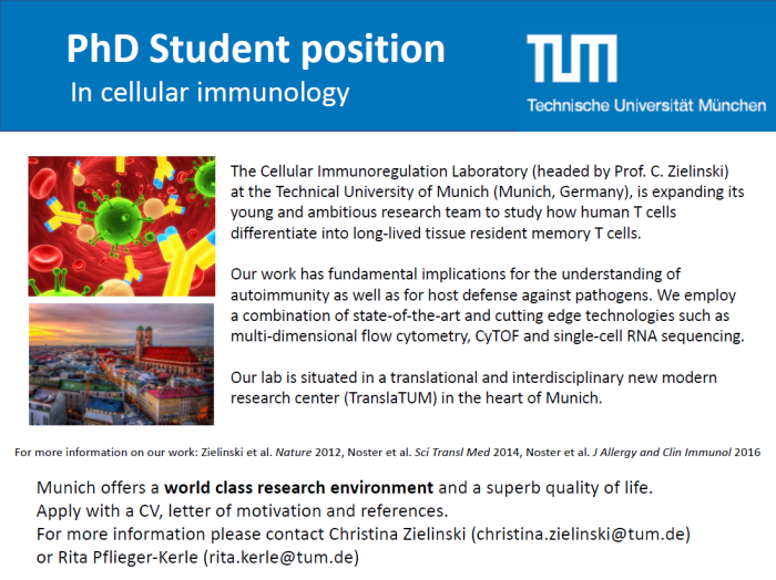Vacancy for PhD student
