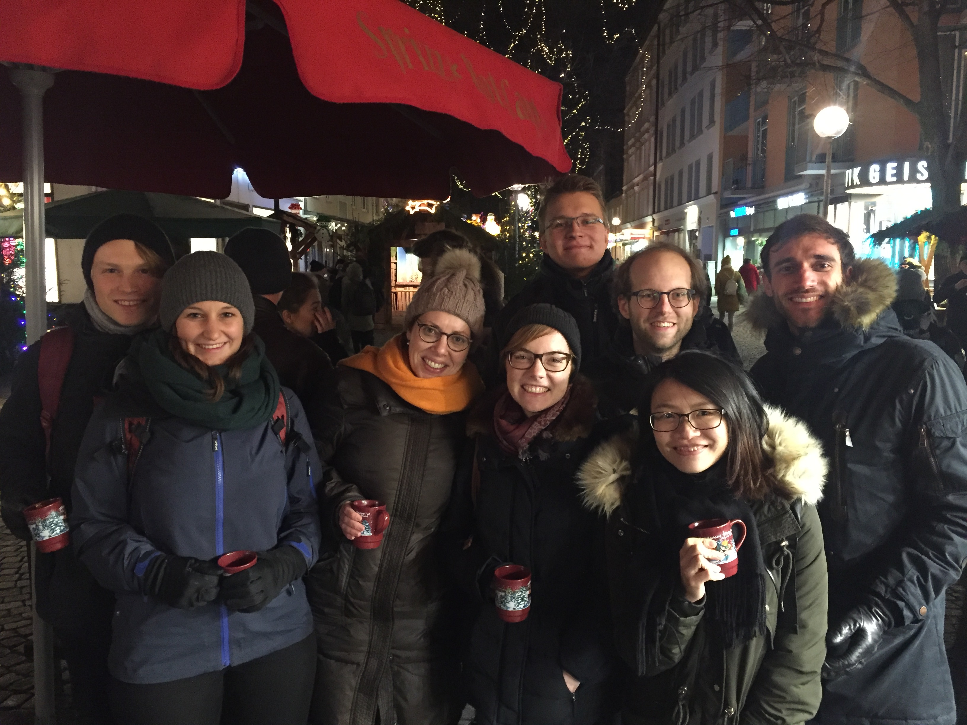 Group pic at Christmas market